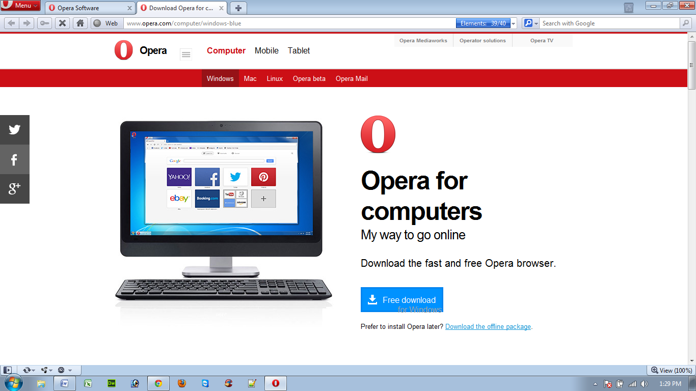 Opera browser download for pc free.